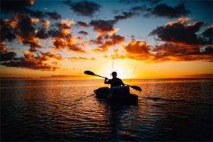 Kayak fishing off New Smyrna Beach